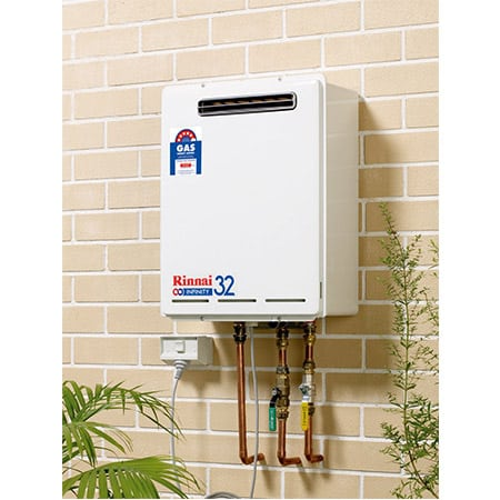 Rinnai LPG Continuous Flow Hot Water System INF32EL60-installed-angle-photo