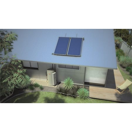 dux-315l-15-amps-sunpro-2-panel-natural-gas-boost-solar-hot-water-system-installed