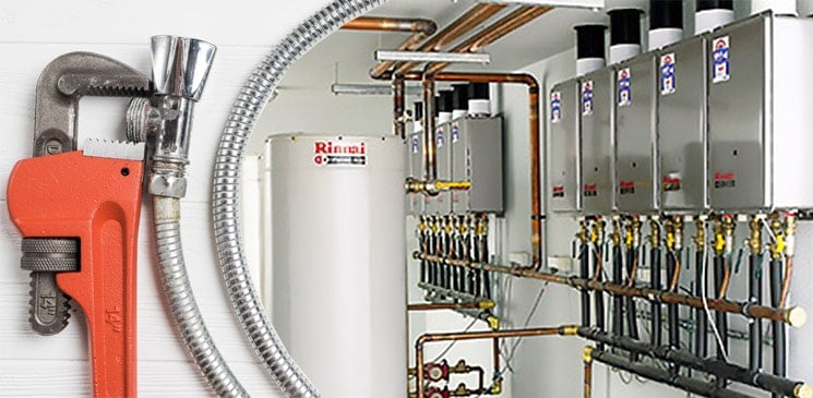 commercial hot water installation